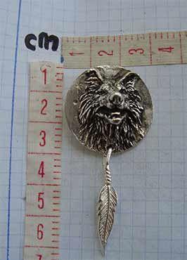 colgante lobo totem guía amuleto chamánico