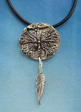 colgante mariposa amuleto masculino etnico