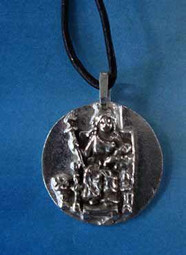 colgante diosa medalla demeter