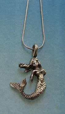 colgante sirenita de plata cadena plata