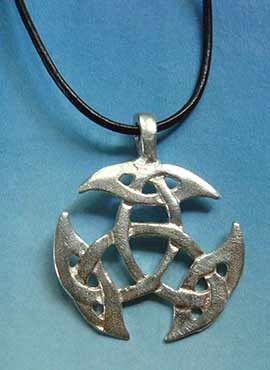 colgante triqueta trinidad símbolo celta