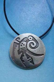quetzal pájaro maya colgante plata