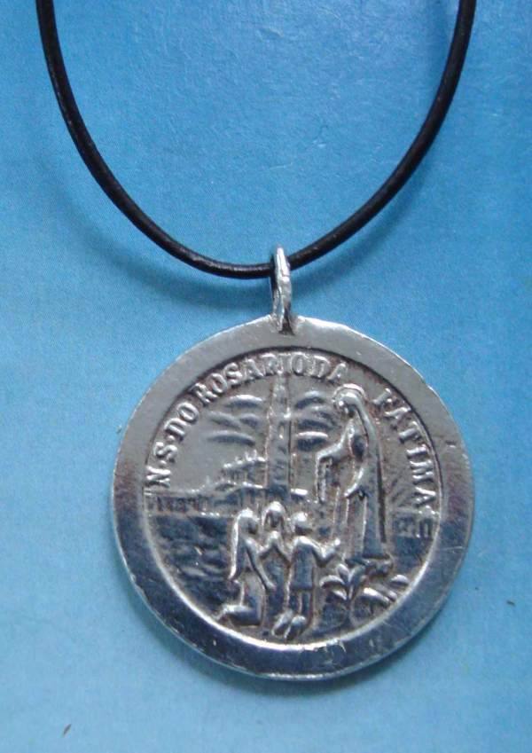 medalla virgen de Fátima de plata