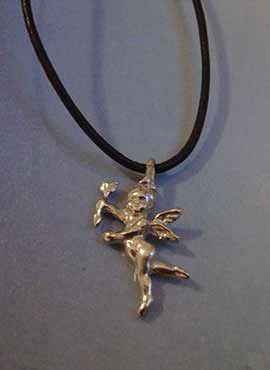 colgante del angel serafín de luz amuleto de plata