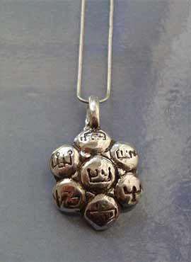 talisman de los 7 arcangeles colgante de plata