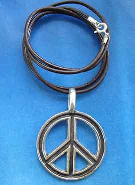 colgante hippie paz y amor amuleto