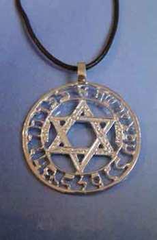 joya del amuleto judaísmo colgante estrella de David en colgante de plata de ley