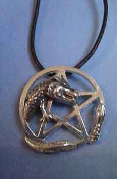 pentáculo del dragón pentagrama de plata