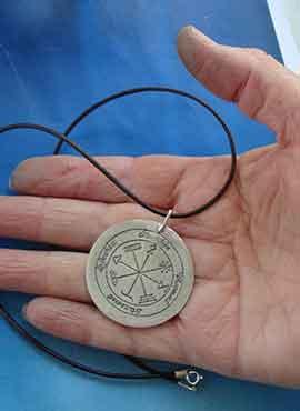 talisman de Agrippa colgante de plata