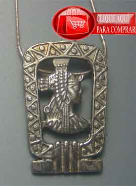 Cleopatra Egipto colgante de plata