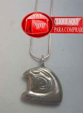 Horus cabeza de halcón, colgante de plata