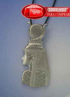 Isis, gran colgante de la diosa Egipcia, plata de ley