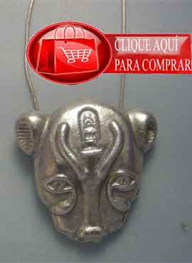 Sejmet diosa leona, de Egipto. colgante de plata