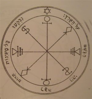 talismanes de la luna, 6º pantáculo clavículas de Salomón