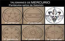 talismanes de Mercurio pantáculos de Salomón