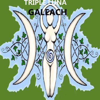 símbolos celtas de la triple diosa o triple luna