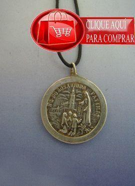 virgen Fátima medalla plata