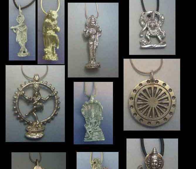 Amuletos de la India. colgantes de plata