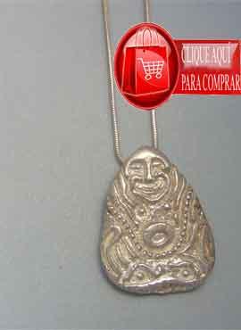amuleto Buda riqueza colgante de plata