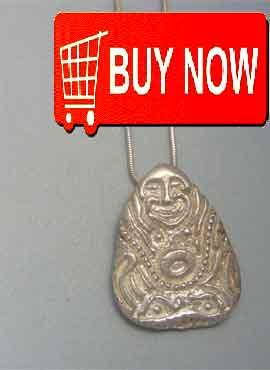 buddha sterling silver pendant