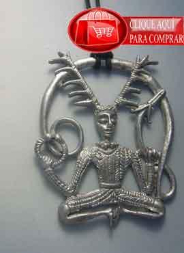 Cernunnos plata colgante del dios celta