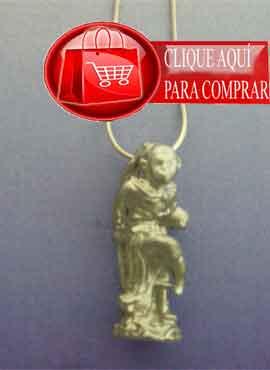 Jánuman dios mono colgante plata