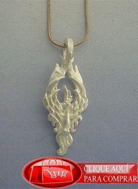 colgante phoenix plata