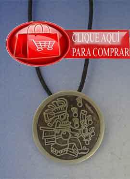Tlaloc azteca plata, amuleto colgante de plata de ley