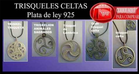 colgantes celtas trísqueles celtas