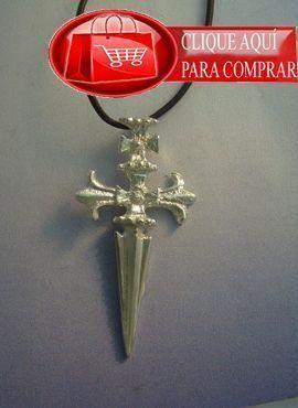 Cruz Santiago colgante de plata
