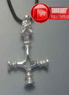 cruz del lobo amuleto vikingo de plata