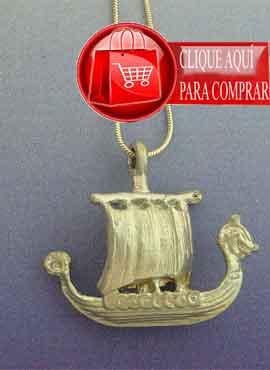 barco vikingo drakkar colgante amuleto