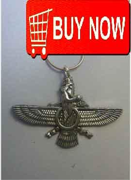 faravahar zoroastro phalavi silver pendant