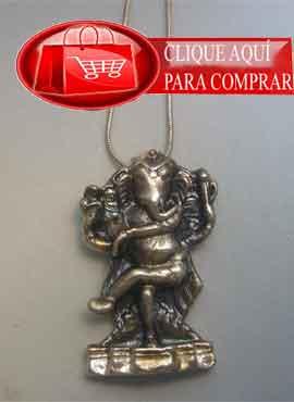 Ganesha dios elefante colgante de plata