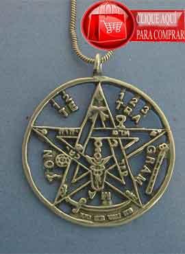 tetragrammatón de plata colgante amuleto