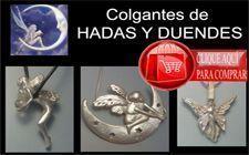colganes de hadas y duendes amuletos de plata