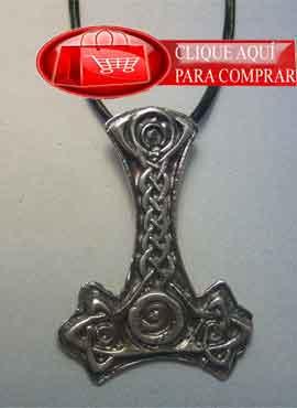 martillo thor plata colgante vikingo
