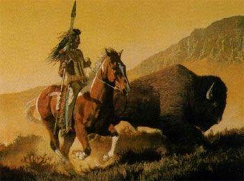 El búfalo era cazado con reverencia y respeto