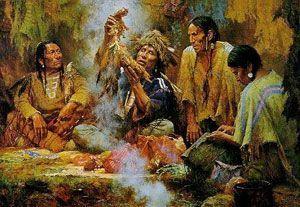 el chamán entre los indios antivos
