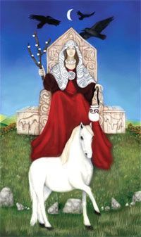 Rhiannon y Pwill, la princesa en su caballo blanco