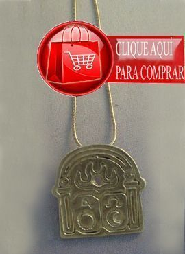 puerta alfa omega colgante de plata
