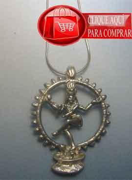 Shiva colgante de plata del dios Hindú.