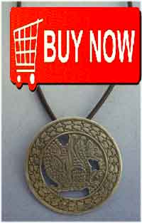 simurgh persian amulet silver charm