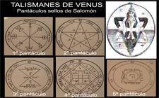 talismanes de Venus, sellos de Salomón