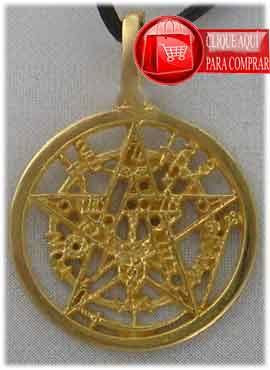 tetragrammatón de oro colgante amuleto oro 18 k