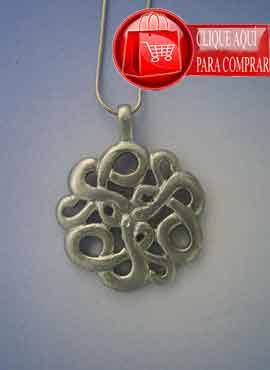 colgante serpientes celtas en plata de ley