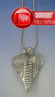 Wadjet diosa cobra colgante de plata