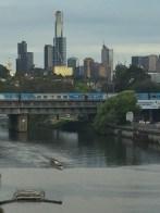 Yarra River, Metro train to CBD and Skyline