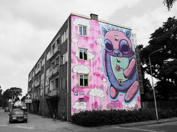 Festival Mundial Tilburg Mural by multimedia dark artist Talissa Mehringer