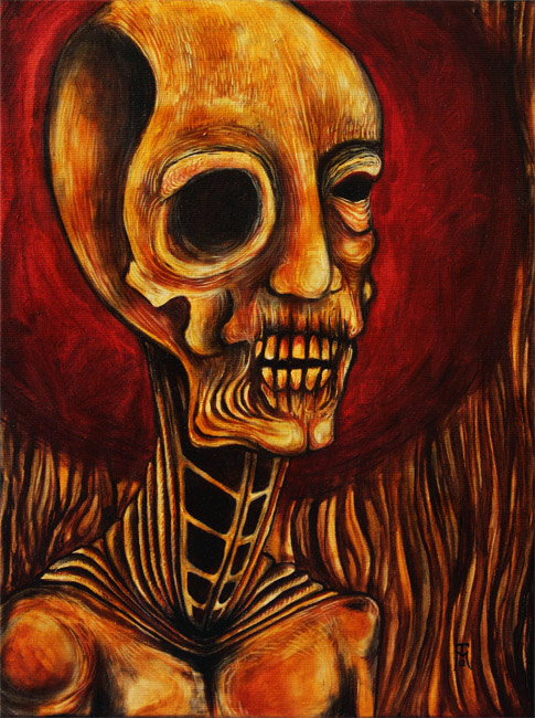 Transfigured II - Macabre Oil Painting